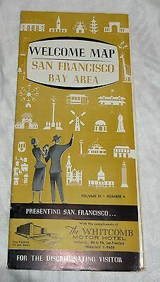 1959 Welcome Map San Francisco Bay Area Vol XI Number 4 Tons of Info