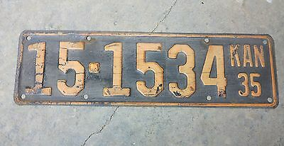 1935 Kansas License Plate, Atchison County, 15-1534