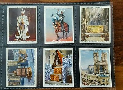 The Kings Coronation Set Of 15 Large Cigarette Cards 1937 Churchmans