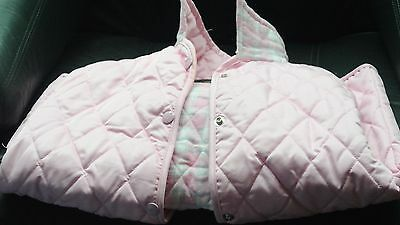 girls pink quilted riding jacket , campbell cooper size 30
