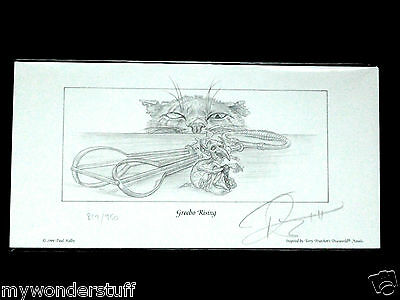 GREEBO RISING Pencil Print Signed / numbered by Terry Pratchett Discworld .Kidby