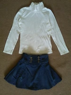 Girls jeans skirt and top size 5-6 years