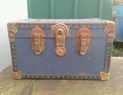 Vintage . WOODEN CHEST. Engineering . Military . Luggage .