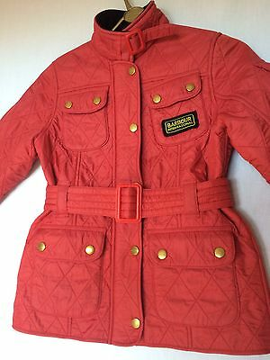 Barbour International Red Polarquilt Jacket Size M age 8-9 all proceeds to NSPCC
