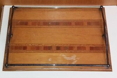 Vintage  1960`s Sovereign Sherry Tray From  New  Zealand  Timbers