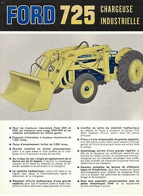 '60, Advertising Ford 725, Industrial Loader, 4 Pages In French