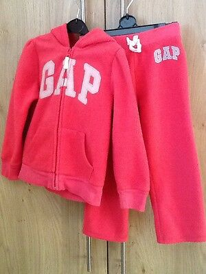 GAP girls Hoodie And Bottoms. BabyGap Size Age 4. Pink Fleece Fabric