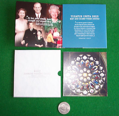 2007  DIAMOND WEDDING CROWN IN ROYAL MINT FOLDER with FREE Churchill Coin.