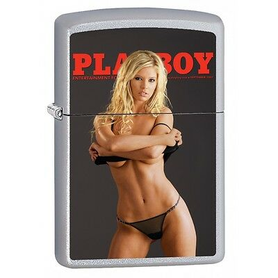 New In Box Zippo Lighter- Playboy Pin Up Girl October 2008 Mag Cover
