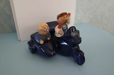 wade tetley men on motorbike with sidecar money box,perfect condition