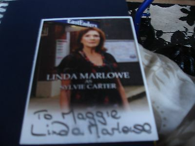 Brand New Hand Signed Cast Card Of Eastenders Linda Malone As Sylvie Carter