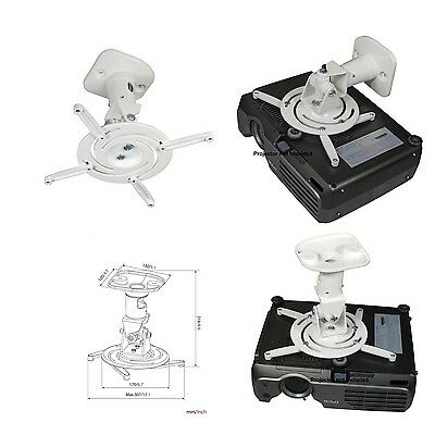 AMER NETWORKS Amer Networks Universal Ceiling Projector Mount - White AMRP100