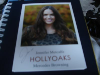 Brand New  Pre Printed Hollyoaks Cast Cardjennifer Metcalfe As Mercedes Browning