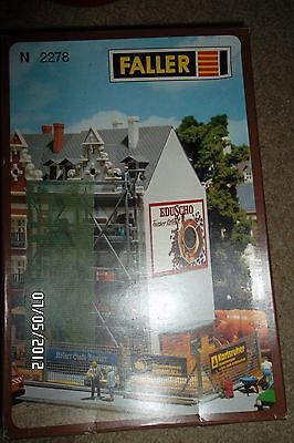 N  Scale Faller N-2278 Building Under Construction  New
