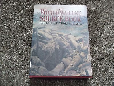 ww1 books,THE WW1 SOURCE BOOK,PHILIP.J.HAYTHORNTHWAITE,HARDBACK