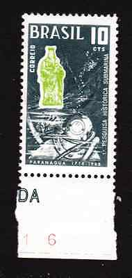 Brazil Stamp 1968 Mnh - Sesquicentenary Of The First Historic Submarine Research