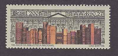 Brazil Stamp 2001- Unmounted Mints - Books / 150 Years Of The National Library