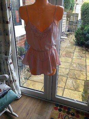 Sexy Pink St Micheal M&S Chiffon Teddy Size 14 BNWT   Lovely Xmas Present