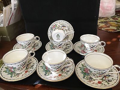 """Aynsley, England """"pembroke"""" Gokld Trim 7 Cups And Saucers Sold Each"""