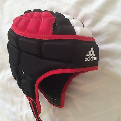Adidas  Performance Rugby Head Guard - Red, Black and White XXL