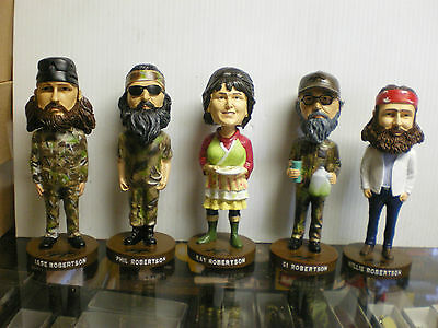 Robertson Family All 5 Bobble Heads (Phil, Kay,Si, Willie, Jase) Duck Dynasty