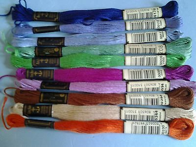 10 All Different Genuine Anchor Threads Full Skiens For Cross Stitch/embroidery