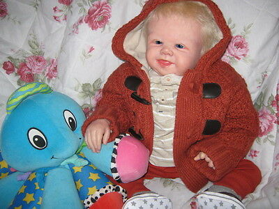 ~ AMAZING REBORN ~ Baby Boy 'TOMMY' by SANDY FABER ~ COMPLETE OUTFIT ~
