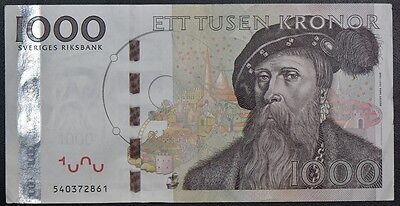 Sweden 1000 Kronor Circulated Banknote