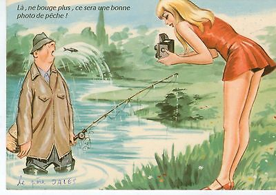 cp humour-pêche-pin up- Carriere