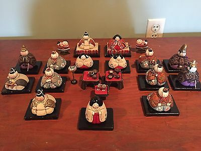 Antique / Kimekomi Hina Japanese Doll Set / Imperial Noble/ With Accessories