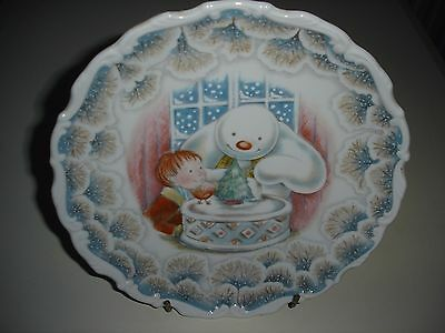 Royal Doulton Snowman Christmas  Plate 1985  Excellent Condition FREE POSTAGE