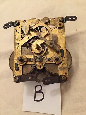 Movement For clock  vintage spares repairs (B)