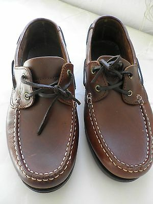 'QUAYSIDE' New LADIES BROWN LEATHER CASUAL SHOES size 41