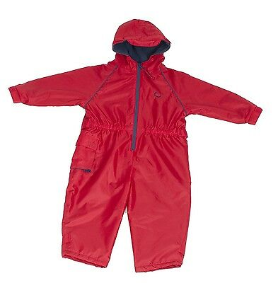 Hippychick Fleece Lined Waterproof All-in-One Suit - Red 2-3 Years