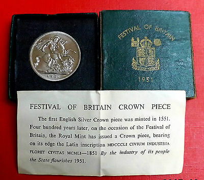 George V1 1951 Crown In Green Box And Coa Very Nice Rare Coin