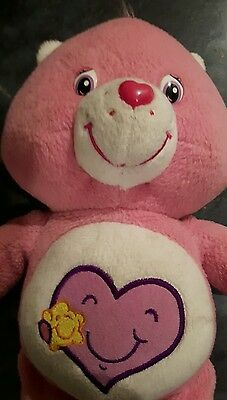 """Official Care Bears - Talking Care Bear - Soft Toy / Plush / Teddy - 11"""" - 2005"""