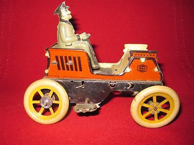 Antique  G&K GREPPERT & KELCH wind up car with male driver 1920 /1930