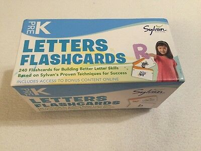 Pre-K Letters Flashcards (Flashcards Language Arts) by Sylvan Learning