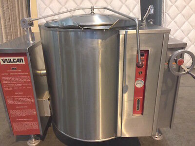 Used Vulcan 40 Gallon 120 Volt / Gas Jacketed Tilting Steam Kettle