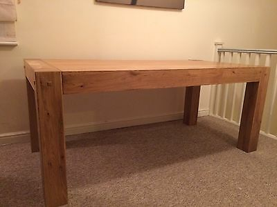 Solid Oak Large Dining Table