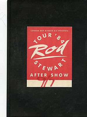 Rod Stewart-Tour '84  backstage satin pass after show only Spectrum Philly