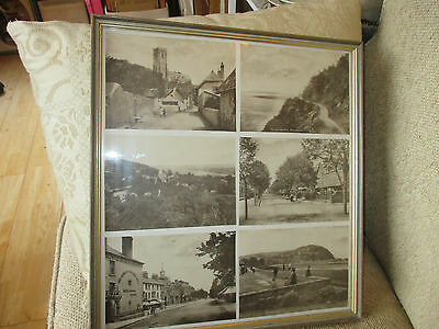 6 old prints of minehead somerset ,in a frame