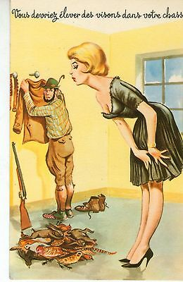 cp humour-chasse-pin up-Carriere