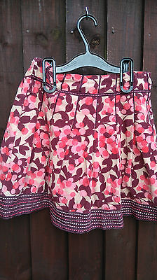 Monsoon Beautiful Girls Cordroy Skirt Age 10-12 Years Immaculate