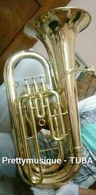 Tuba Eb Flat Diplomat Model Of Pure Brass Made In Brass Polish ( New Year Offer)