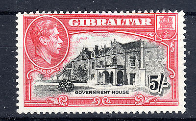 Gibraltar 5/- P13.5 -SG 129a lightly mounted mint Cat £52+
