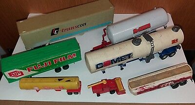 Collection  Of  7  Used Toy  Car  Parts -  Corgi   Brittain  Etc