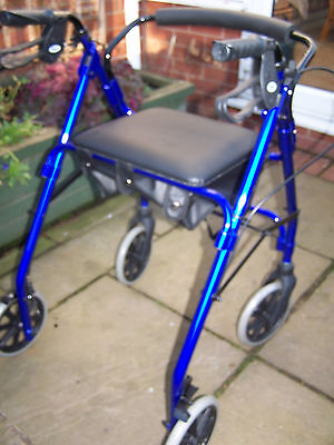 Patterson Walker 4 Wheel Aluminium Lightweight With Brakes Seat Bag
