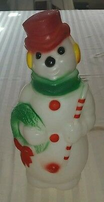 Vintage Empire Blow Mold Lighted Christmas Snowman Blow Mold