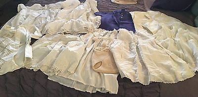 Antique Vintage Baby Clothing Lot - Dresses - Dollmaking